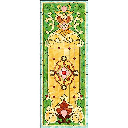 WFYY Vinilo Pegatina para Muebles Iglesia De Vidrio, Pintura Decorativa De Vidrieras Tiffany Pegatinas Carteles para Pared Vidrio Papel Pintado 88x200Cm