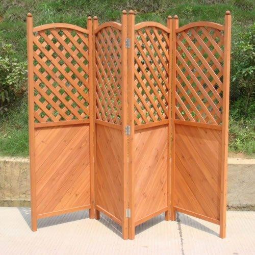 Jardin/Patio Écran pliant 1.8m H x 2.4m L Médiéduction en bois de haute qualité en bois