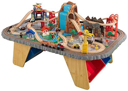 Best kidkraft wooden train table