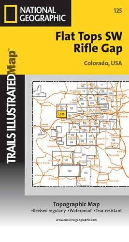 Flat Tops SW /Rifle Gap: 1:40680 (National Geographic Maps: Trails Illustrated)