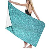 MKLQ Toalla 073PFvmtjD_Small Microfiber Beach Towel, Quick Drying Lightweight Travel Towels, 31.5 x51 Inch