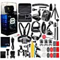 GoPro HERO8 Black Digital Action Camera - Waterproof, Touch Screen, 4K UHD Video, 12MP Photos, Live Streaming, Stabilization - with 50 Piece Accessory Kit - All You Need Bundle from GoPro