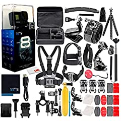 1 x GoPro HERO8 Black | 1 x 50 in 1 Go Pro Accessory Kit | 1 x Microfiber Cloth Up to UHD 4K Video, Slow Motion - HyperSmooth 2.0 Video Stabilization - TimeWarp 2.0 Stabilized Time-Lapse Video - SuperPhoto 12MP Stills with HDR Support Waterproof to 3...
