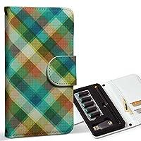 スマコレ ploom TECH プルームテック 専用 レザーケース 手帳型 タバコ ケース カバー 合皮 ケース カバー 収納 プルームケース デザイン 革 チェック・ボーダー チェック 模様 006555
