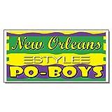 New Orleans Po-Boys Restaurant Café Bar Vinyl Decal Sticker Sign 14.5 x 36 inches