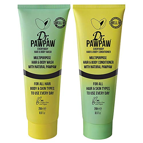 Dr. PAWPAW Everybody Hair And Body Wash & Conitioner |Twin Pack | Vegan Friendly, Leaves Skin & Hair...