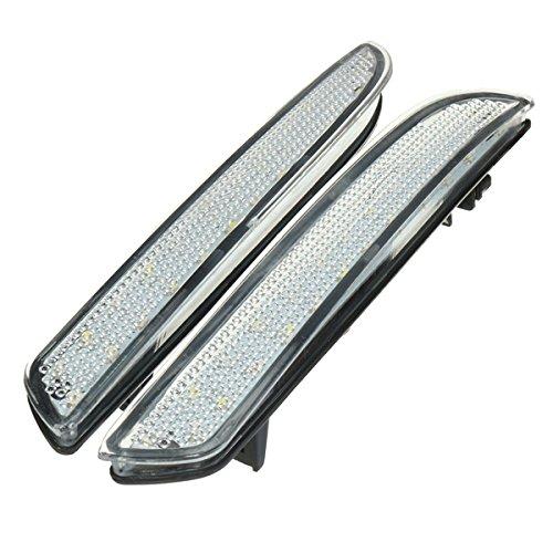MASUNN Paire 24 LEDs Pare-Chocs Arrière Clignotant Feu De Signalisation Arrêt De Queue De Frein De Course - Clair