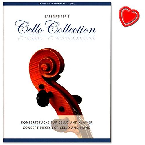 Konzertstücke für Cello und Klavier - 18 wirkungsvolle und leicht einzustudierende Konzertstücke aus Barock, Klassik und Romantik - Sammelband mit bunter herzförmiger Notenklammer