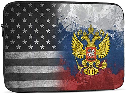 Vintage USA Sierra Leone Flag Laptop Sleeve Bag Compatible con 10-17 Inch Cute Computer Bag Laptop Case-Vintage USA Rusia Eagles Flags, 12inch