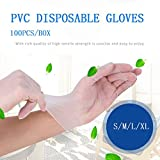Kitchen & Dining, iuuhome 100Pcs 9 Inch Disposable Transparent PVC Gloves Home Food Disposable...