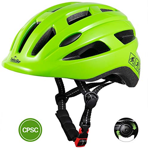 TurboSke Toddler Bike Helmet, CPSC Certified Multi-Sport Adjustable Helmet for Kids Boys and Girls Age 3-5 (Lawn Green)