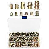 230 Piezas Remaches Tuerca Threaded Insert Inox Roscado Acero Inoxidable Nutsert Rivet Nut, Madera Tuercas Insertar M4 M5 M6 M8 M10 Kit de Herramientas para la Mayoría de las Tuercas de Muebles