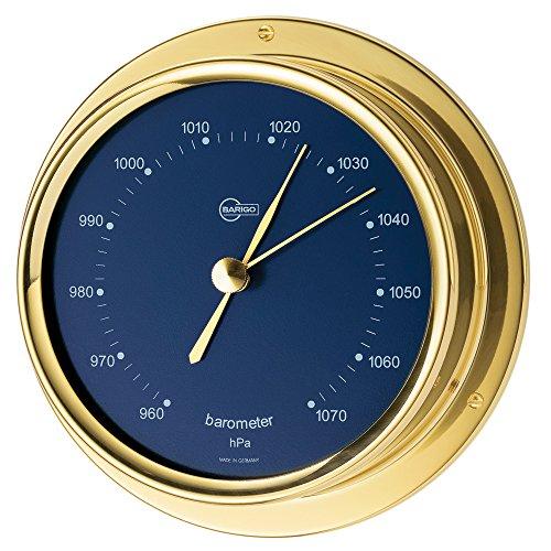 BARIGO Regatta Series Ship's Barometer - Brass Housing - Blue 4\