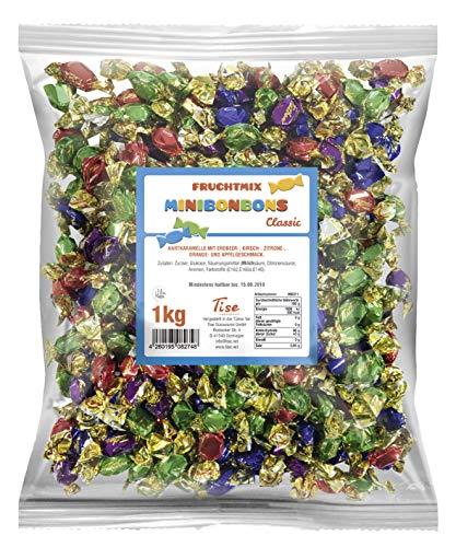 Tise Süsswaren Minibonbons Frucht Mix, 1er Pack (1 x 1 kg)