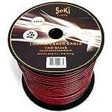 Cavo per altoparlante, 2 x 1,50 mm2, 100 m, colore: rosso/nero