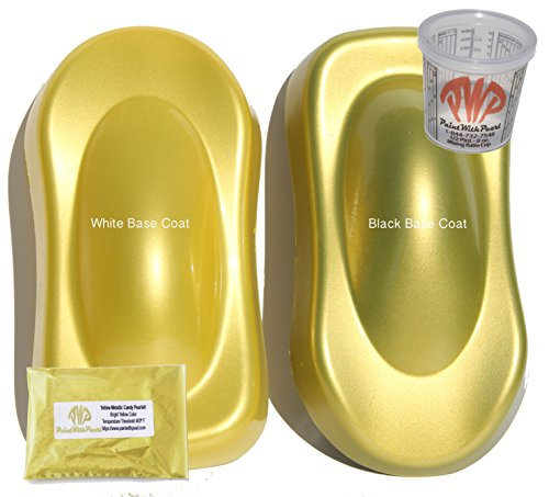 25g Yellow Candy Paint Powder, Metallic Paint Pigment Iron Oxide Paint Powder with 8 oz. Mixing Cup.