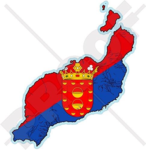 LANZAROTE Map-Flag, KANAIRE EILANDEN Spanje, Islas Canarias Spaans 4.3