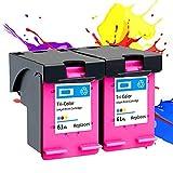 PLOKN Remanufacturados para los Cartuchos de Tinta HP61XL para HP Envy 4500 4501 4502 4503 4504 4505 4507 4508 4509 5530 5531 5532 5534 5535 5539 Color+Color