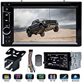 """Double 2 Din Car Stereo with Rear View Parking Camera 6.2"""" Touch Screen for Ford F150 F250 F350 F450 F550 2004-2016, Support Mirror Link Steering Wheel Control DVD CD Player Bluetooth USB TF AM FM"""