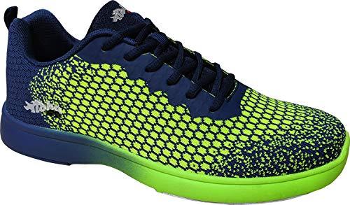 Bowling-Schuhe, Aloha HexaGo, Damen und Herren, für Rechts- und Linkshänder Schuhgröße 35-49 (45 EU, Grün/Blau)