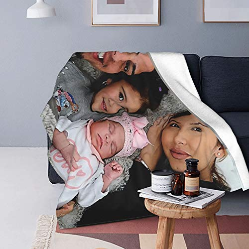 The Ace Family Flannel Blanket Lightweight Cozy Bed Blanket Soft Throw Blanket Fit Couch Sofa Suitable for All Season 60'x50'