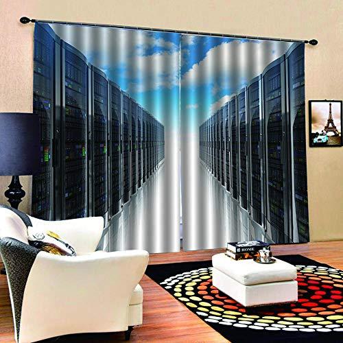 FAIEK 3D Blickdicht Vorhang-Moderner Metallschrank-Gardine Mit Haken Für Geeignet Für Balkon Schlafzimmer Wohnzimmer Moderne Christmas Dekoration Vorhang-220X215Cm