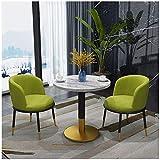 TorchJPA Table de salle à manger et chaises de cuisine 3 simples Bureau de réception décontracté Café Salon de beauté (couleur : 1)