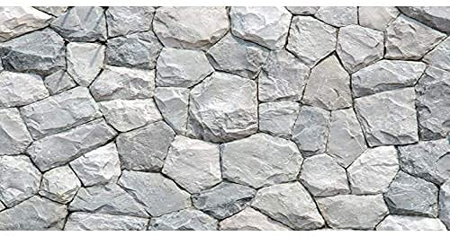 AWERT 30x18 inches White Stone Aquarium Background Rocky Fish Tank Background Rock Terrarium Background Durable Polyester Background