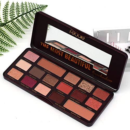 HJSMZ Paleta de Sombras de Ojos Paleta de Sombras Belleza Paleta Maquillaje Paletas de Maquillaje Conjunto de Paleta Brillantes y Mate