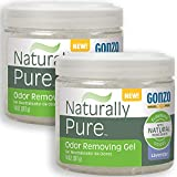 Gonzo Natural Magic Naturally Pure Odor Removing Gel 14 Ounce (2 Pack) Works On Pet, Smoke, Trash, Kitchen, Closet, Bathroom Odors