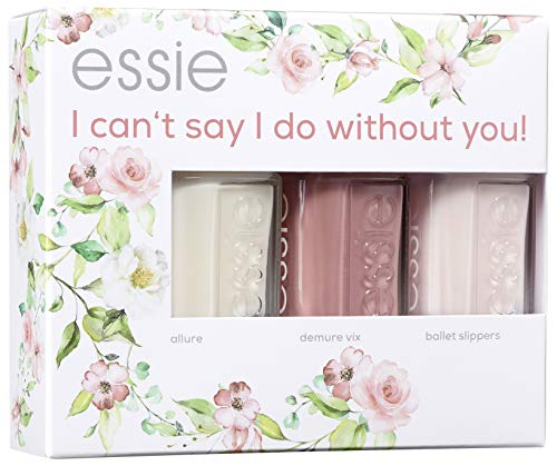essie bride set I can't say I do without you - Nr. 05 allure + Nr. 40 demure vix + Nr. 06 ballet slippers, 121 g