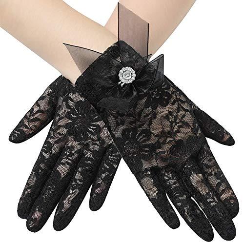 BABEYOND Hochzeit Spitze Handschuhe Braut Handschuhe Opera Fest Party Handschuhe 1920er Flapper Spitzenhandschuhe Fasching Kostüm Accessoires