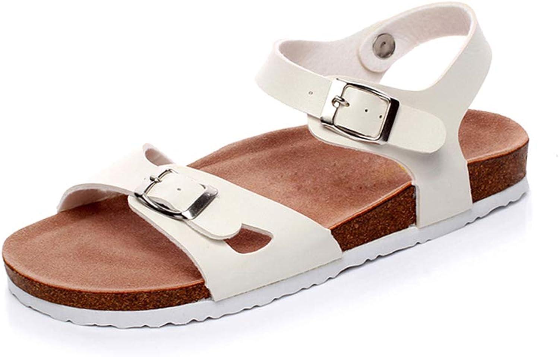 Women Summer Sandals Platform shoes Beach Cork Sandals Slippery Flats
