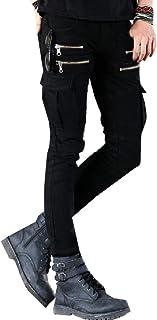 Mens Fashion Biker Moto Skinny Stretchy Distressed Jeans Casual Slim Pants
