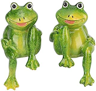 2 PCS Frogs Resin Statue Beautiful Garden Interior Exterior Decoration Sculpture for Office Home Services Garden Ornament
