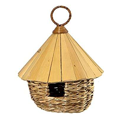 Woodlink Round Roosting Pocket with Bamboo Roof by Woodlink