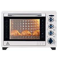 インテリジェントインバーターオーブン、スチームオーブン、容量38l、9つのプリセットメニュー、3層グリル、内蔵スラグトレイ-1800w調理力