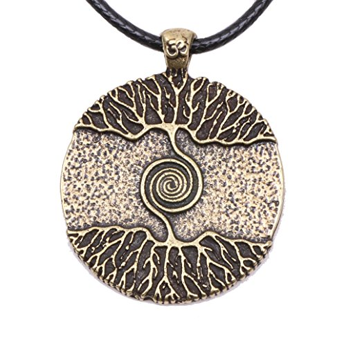 Paw Paw House Yoga Inspired Kybalion Pendant Necklace Amulet Tree of Life Talisma Chi As Above As Below As Within As Without Meditation (4082B)