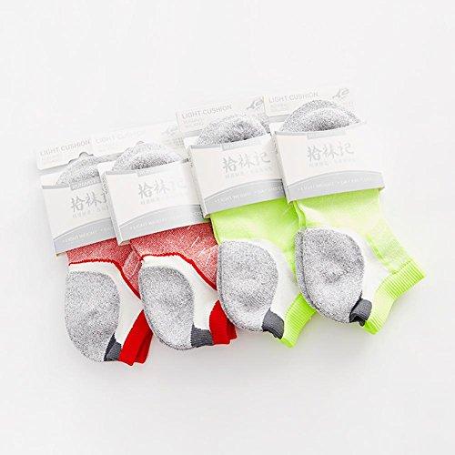 Lmzyan Marathon Running Socks, randonnée pédestre randonnée Terry Chaussettes 2 Paires pour Les Femmes et 2 Paires pour Les Hommes