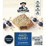 Quaker Breakfast Squares, Soft Baked Bars, Blueberry, 5 Bars