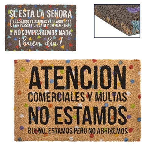 Item FL-153141 Felpudo Coco Con Frases 60X40Cm