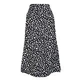 N\P Sexy Leopard Gasa Split Falda Casual Falda Larga Mujer Primavera y Verano Elegante Falda Femenina