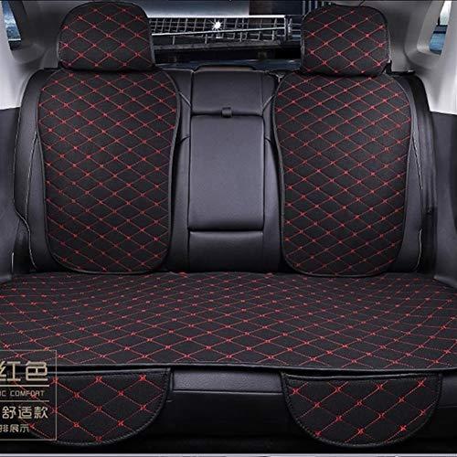 Cubiertas de asiento de automóvil Asiento cuatro estaciones Interior del coche de la cubierta universal de lino asiento trasero del coche del amortiguador con respaldo Silla Auto Asiento Alfombra de c