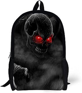 Skull School Bag Teens Boys Girl Fashion Backpack Children Book Bag Kids Daypack