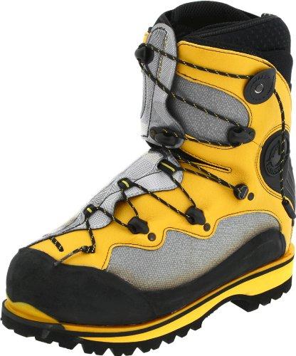 La Sportiva Spantik Men's Mountain Climbing Mountaineering Boot, Yellow/Silver, 40.5 M EU