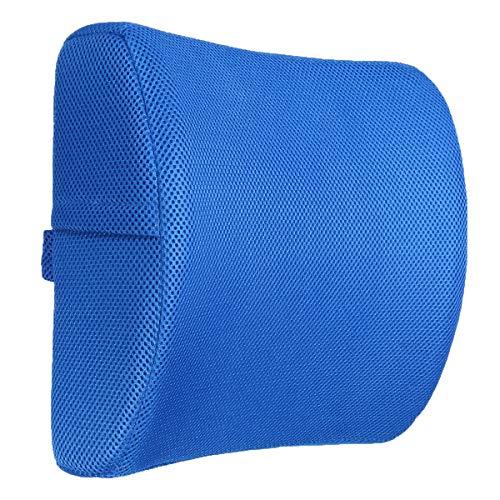 La almohadilla de espuma de memoria admite el área lumbar de  La almohada lumbar y se utiliza como almohada de alivio de dolor lumbar de computadora, silla de oficina de computadora, reclinador de a