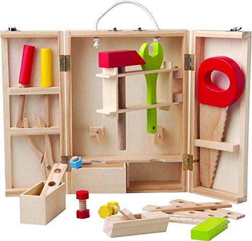 25 teiliges Set Woody Werkzeugschrank / Werkschrank Holz Werkzeug z.B. Hammer, Säge, Schraubenzieher etc.