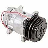 AC Compressor & 2 Groove A/C Clutch For Range Rover Classic 1989 1990 1991 1992 Replaces Sanden SD709 7433 7994 - BuyAutoParts 60-01535NA NEW