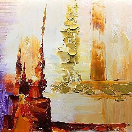 handgefertigt modernes abstraktes Design wei/ß SPLLEADER Leinwandbild gro/ß Acryl handbemalt /Ölbild zum Aufh/ängen Moderne Kunst 60 x 80 cm
