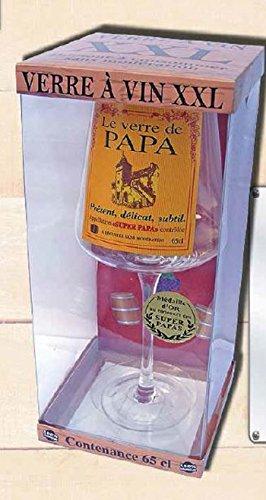 Verre à Vin Geant 25 cm 65 cl le Verre de Papa